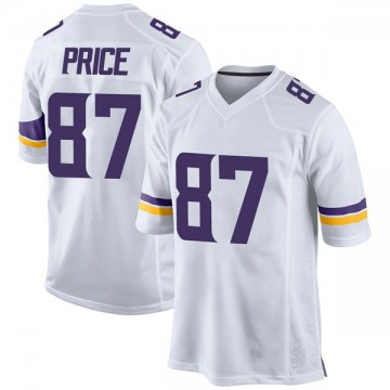 Youth Nike Minnesota Vikings Jabari Price White Jersey - Game