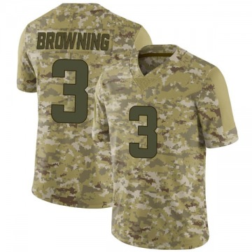 Youth Nike Minnesota Vikings Jake Browning Brown Camo 2018 Salute to Service Jersey - Limited