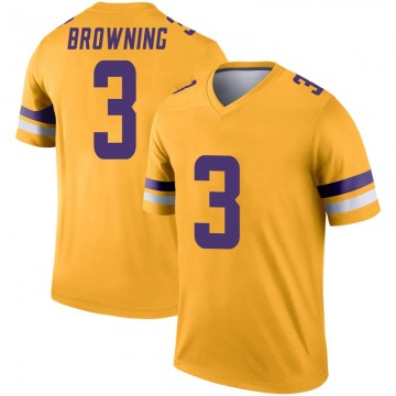 Youth Nike Minnesota Vikings Jake Browning Gold Inverted Jersey - Legend