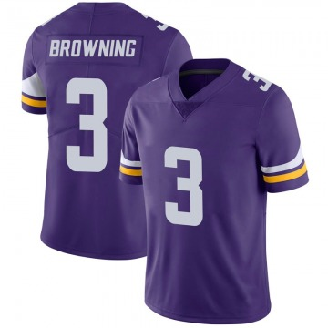 Youth Nike Minnesota Vikings Jake Browning Purple 100th Vapor Jersey - Limited