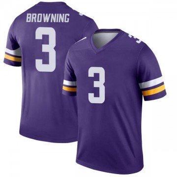 Youth Nike Minnesota Vikings Jake Browning Purple Jersey - Legend