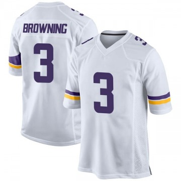 Youth Nike Minnesota Vikings Jake Browning White Jersey - Game