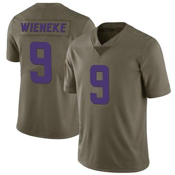 Youth Nike Minnesota Vikings Jake Wieneke Green 2017 Salute to Service Jersey - Limited