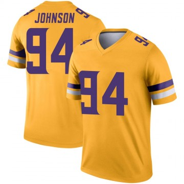 Youth Nike Minnesota Vikings Jaleel Johnson Gold Inverted Jersey - Legend