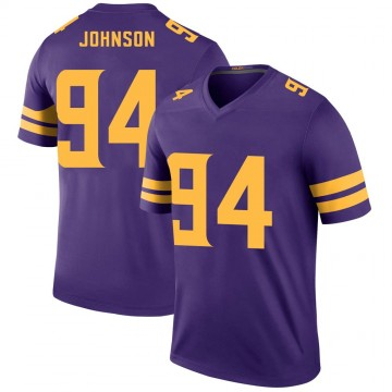Youth Nike Minnesota Vikings Jaleel Johnson Purple Color Rush Jersey - Legend