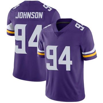 Youth Nike Minnesota Vikings Jaleel Johnson Purple Team Color Vapor Untouchable Jersey - Limited