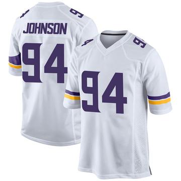 Youth Nike Minnesota Vikings Jaleel Johnson White Jersey - Game
