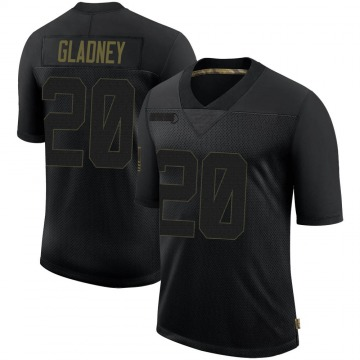 Youth Nike Minnesota Vikings Jeff Gladney Black 2020 Salute To Service Jersey - Limited