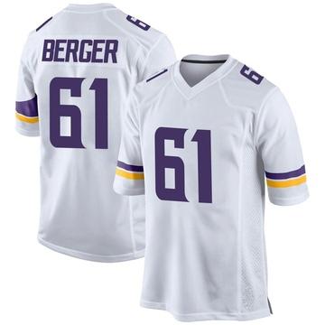 Youth Nike Minnesota Vikings Joe Berger White Jersey - Game