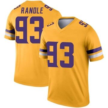 Youth Nike Minnesota Vikings John Randle Gold Inverted Jersey - Legend