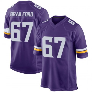 Youth Nike Minnesota Vikings Jordan Brailford Purple Team Color Jersey - Game