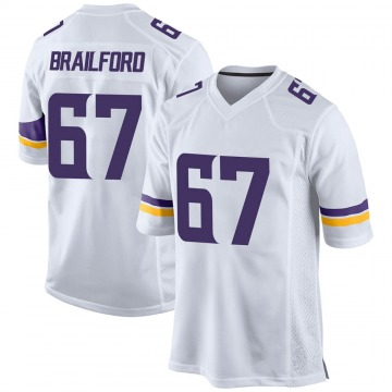 Youth Nike Minnesota Vikings Jordan Brailford White Jersey - Game