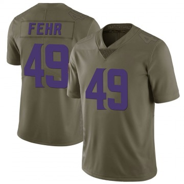 Youth Nike Minnesota Vikings Jordan Fehr Green 2017 Salute to Service Jersey - Limited