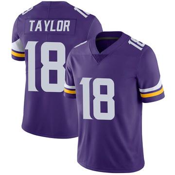 Youth Nike Minnesota Vikings Jordan Taylor Purple 100th Vapor Jersey - Limited