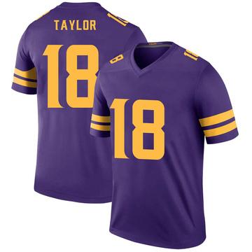 Youth Nike Minnesota Vikings Jordan Taylor Purple Color Rush Jersey - Legend