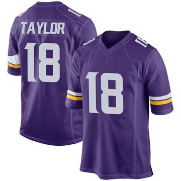Youth Nike Minnesota Vikings Jordan Taylor Purple Team Color Jersey - Game