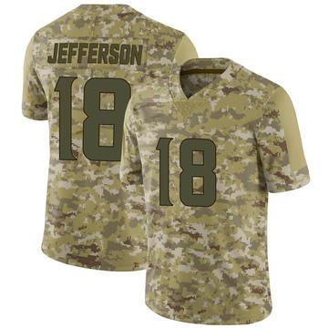 Youth Nike Minnesota Vikings Justin Jefferson Camo 2018 Salute to Service Jersey - Limited