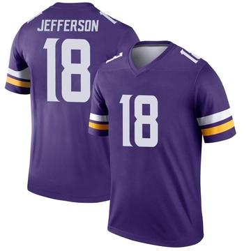 Youth Nike Minnesota Vikings Justin Jefferson Purple Jersey - Legend