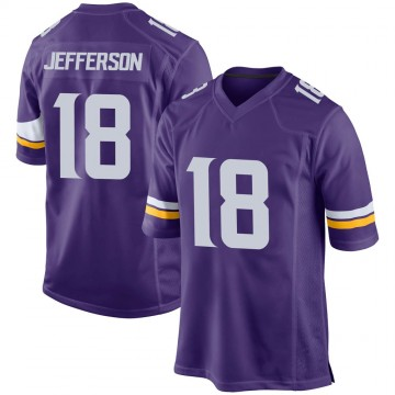 Youth Nike Minnesota Vikings Justin Jefferson Purple Team Color Jersey - Game