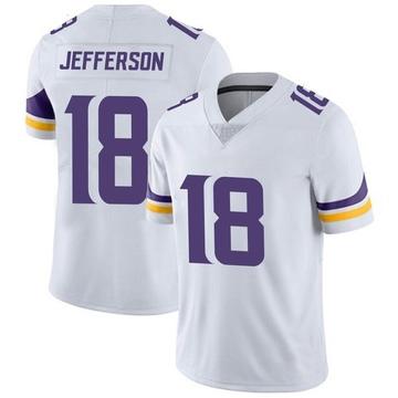 Youth Nike Minnesota Vikings Justin Jefferson White Vapor Untouchable Jersey - Limited