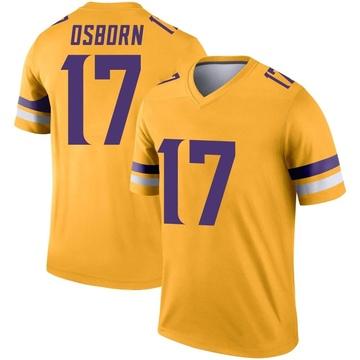 Youth Nike Minnesota Vikings K.J. Osborn Gold Inverted Jersey - Legend