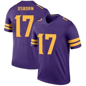 Youth Nike Minnesota Vikings K.J. Osborn Purple Color Rush Jersey - Legend
