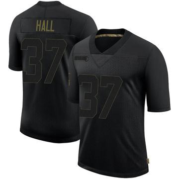 Youth Nike Minnesota Vikings Kemon Hall Black 2020 Salute To Service Jersey - Limited
