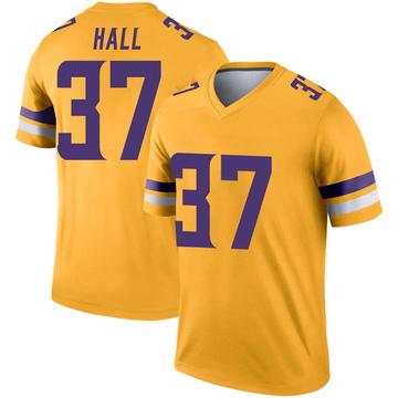 Youth Nike Minnesota Vikings Kemon Hall Gold Inverted Jersey - Legend