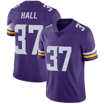 Youth Nike Minnesota Vikings Kemon Hall Purple 100th Vapor Jersey - Limited
