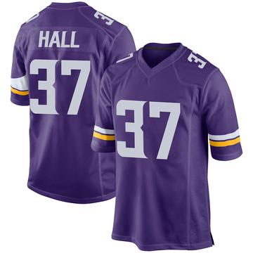 Youth Nike Minnesota Vikings Kemon Hall Purple Team Color Jersey - Game