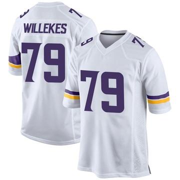 Youth Nike Minnesota Vikings Kenny Willekes White Jersey - Game