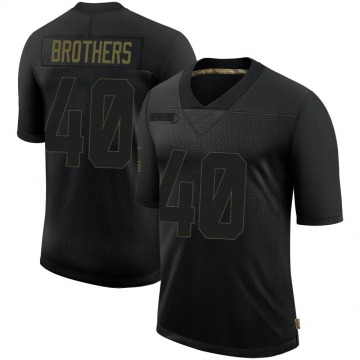 Youth Nike Minnesota Vikings Kentrell Brothers Black 2020 Salute To Service Jersey - Limited
