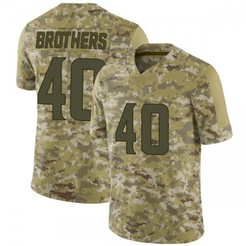 Youth Nike Minnesota Vikings Kentrell Brothers Camo 2018 Salute to Service Jersey - Limited