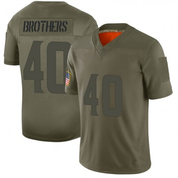 Youth Nike Minnesota Vikings Kentrell Brothers Camo 2019 Salute to Service Jersey - Limited