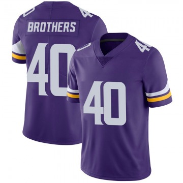Youth Nike Minnesota Vikings Kentrell Brothers Purple 100th Vapor Jersey - Limited