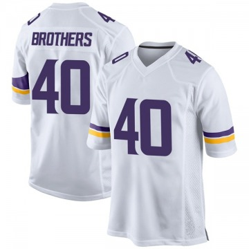 Youth Nike Minnesota Vikings Kentrell Brothers White Jersey - Game