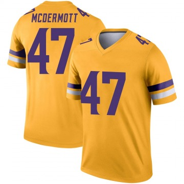 Youth Nike Minnesota Vikings Kevin McDermott Gold Inverted Jersey - Legend
