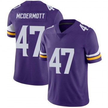 Youth Nike Minnesota Vikings Kevin McDermott Purple Team Color Vapor Untouchable Jersey - Limited