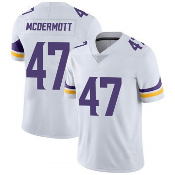 Youth Nike Minnesota Vikings Kevin McDermott White Vapor Untouchable Jersey - Limited