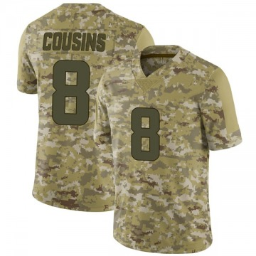 Youth Nike Minnesota Vikings Kirk Cousins Camo 2018 Salute to Service Jersey - Limited