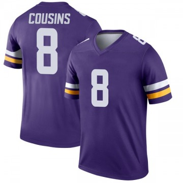 Youth Nike Minnesota Vikings Kirk Cousins Purple Jersey - Legend