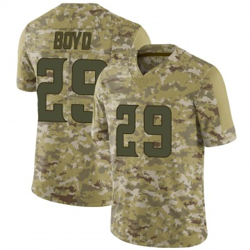 Youth Nike Minnesota Vikings Kris Boyd Camo 2018 Salute to Service Jersey - Limited