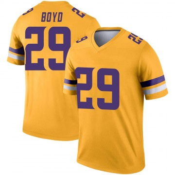 Youth Nike Minnesota Vikings Kris Boyd Gold Inverted Jersey - Legend