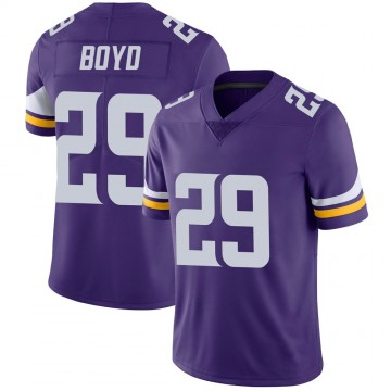 Youth Nike Minnesota Vikings Kris Boyd Purple 100th Vapor Jersey - Limited