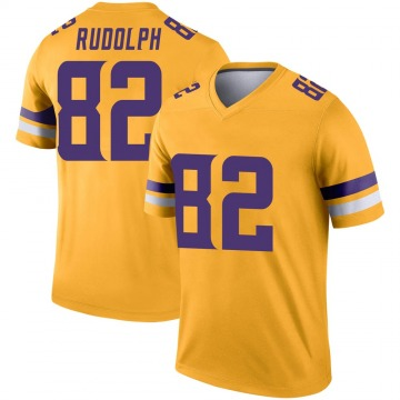 Youth Nike Minnesota Vikings Kyle Rudolph Gold Inverted Jersey - Legend