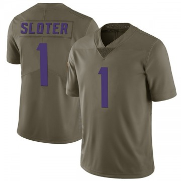 Youth Nike Minnesota Vikings Kyle Sloter Green 2017 Salute to Service Jersey - Limited