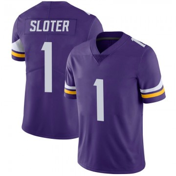Youth Nike Minnesota Vikings Kyle Sloter Purple 100th Vapor Jersey - Limited