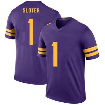 Youth Nike Minnesota Vikings Kyle Sloter Purple Color Rush Jersey - Legend