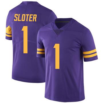 Youth Nike Minnesota Vikings Kyle Sloter Purple Color Rush Jersey - Limited