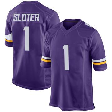 Youth Nike Minnesota Vikings Kyle Sloter Purple Team Color Jersey - Game
